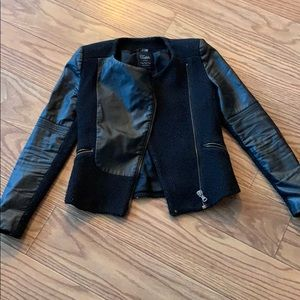 Zara trafaluc xs leather motto jacket